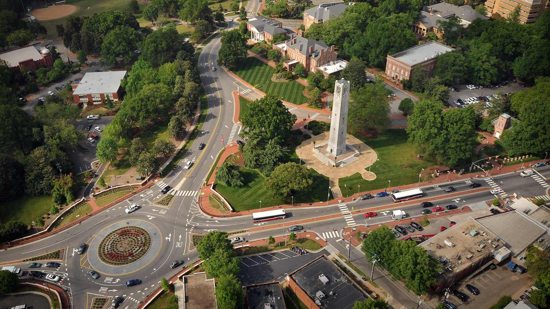 Aerial view of Hillsborough Street