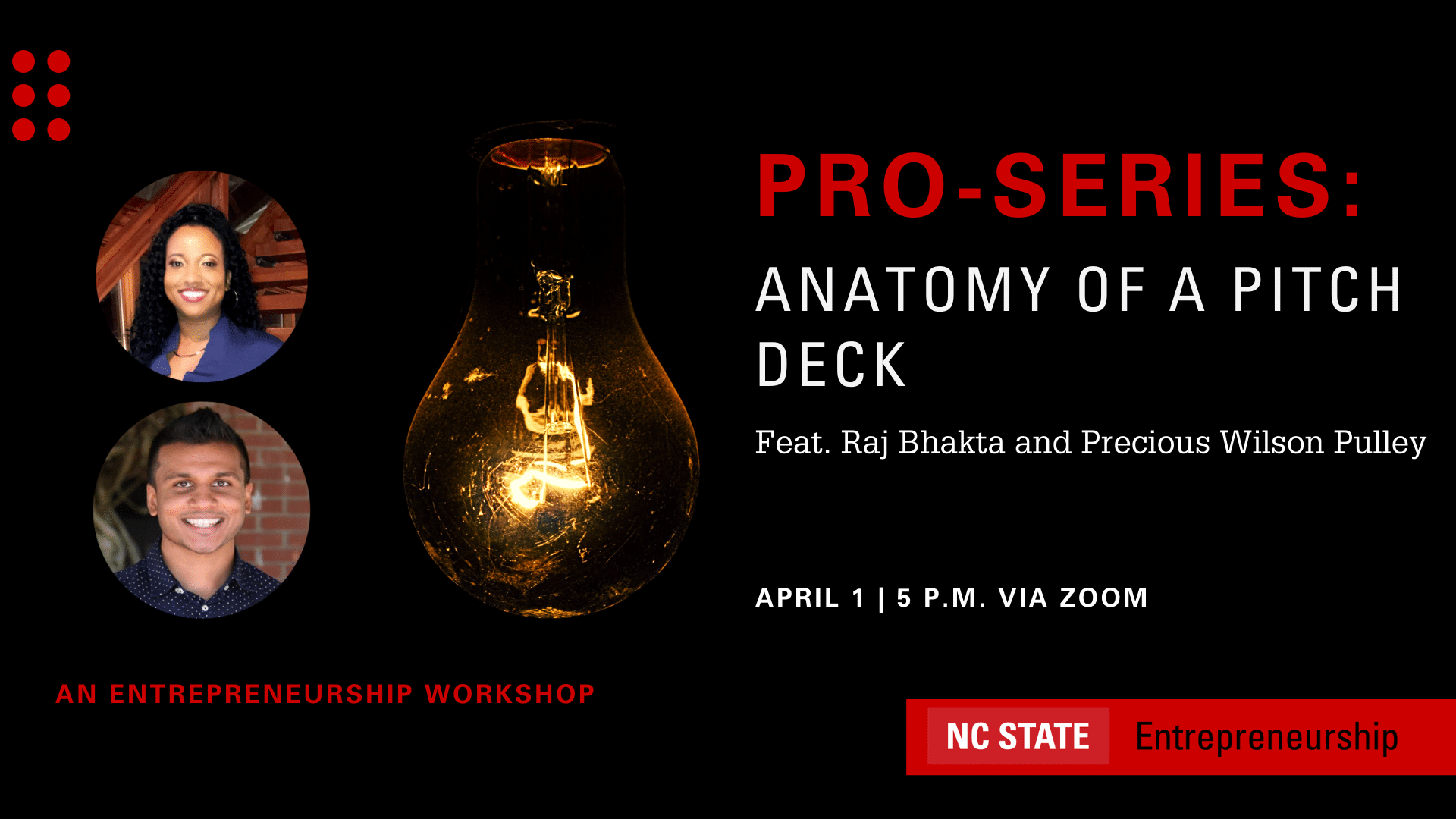 Upcoming Events   Pro Series Anatomy of a Pitch Deck ...