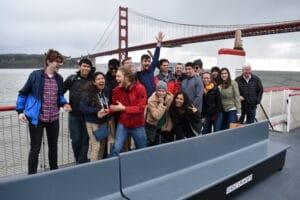 Group Photo under the Golden Gate Bridge